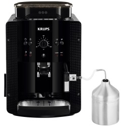 Espressor Krups EA81M870 Essential, 1450 W, 15 bar, Recipient Lapte, rasnita metal, Thermoblock, Negru