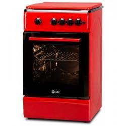 Aragaz LDK 5060 A RED FR RMV, 4 Arzatoare, Capac metalic, Siguranta, 50x60 cm, Aprindere electrica, Rosu, Duze NG/LPG